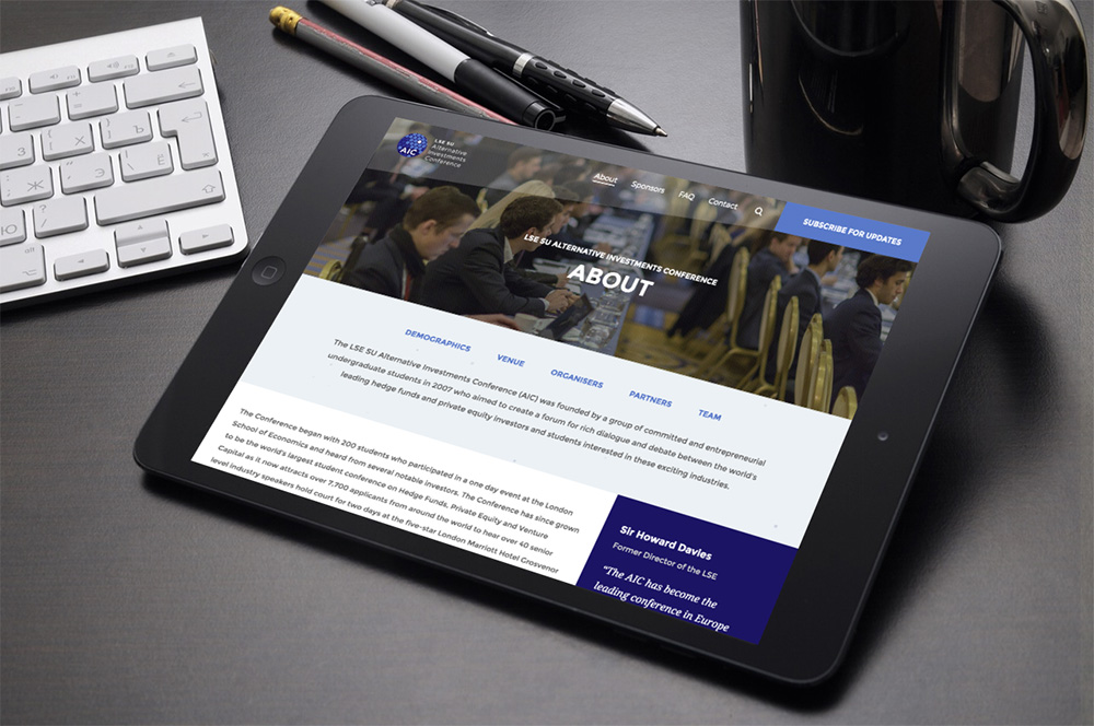 Tablet WordPress website development