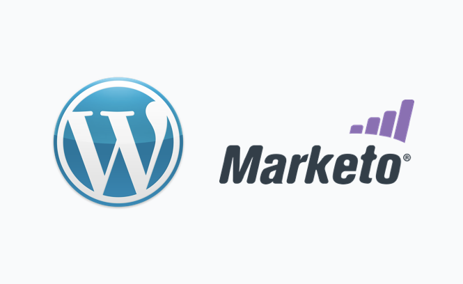 Image of Marketo and WordPress logos as we delve into how easy it is to integrate the two.