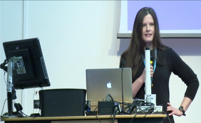 Nicola talking about Gutenberg editor at WordCamp London