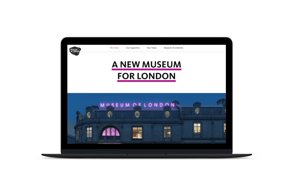 93digital wordpress design for museum of London