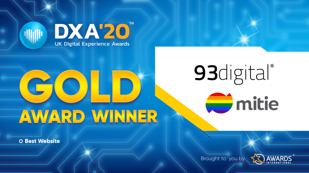 Banner of 93digital & mitie best website from dxa