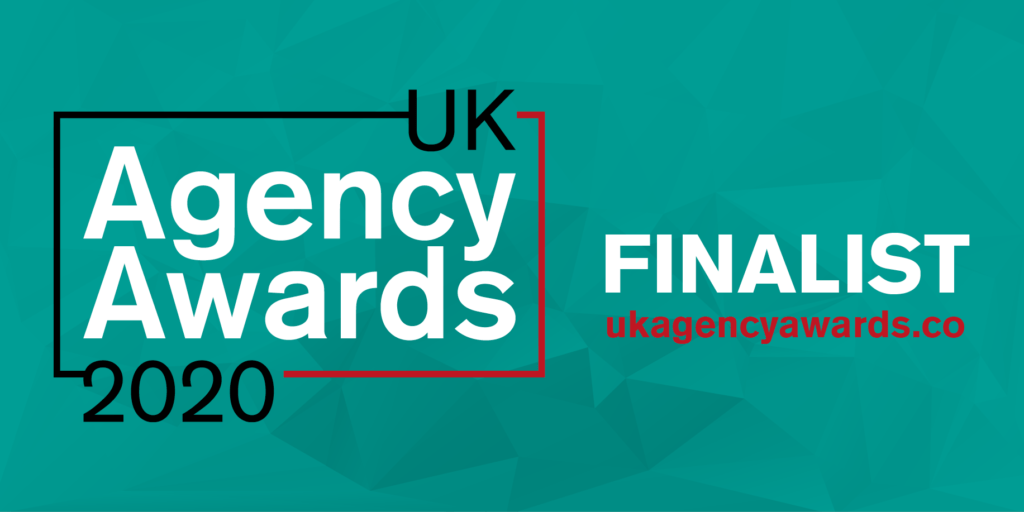 93digital finalist badge for UK agency awards