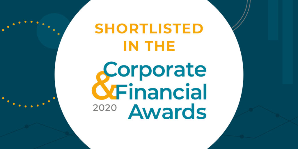 93digital shortlisted in the Corporate & Financial awards