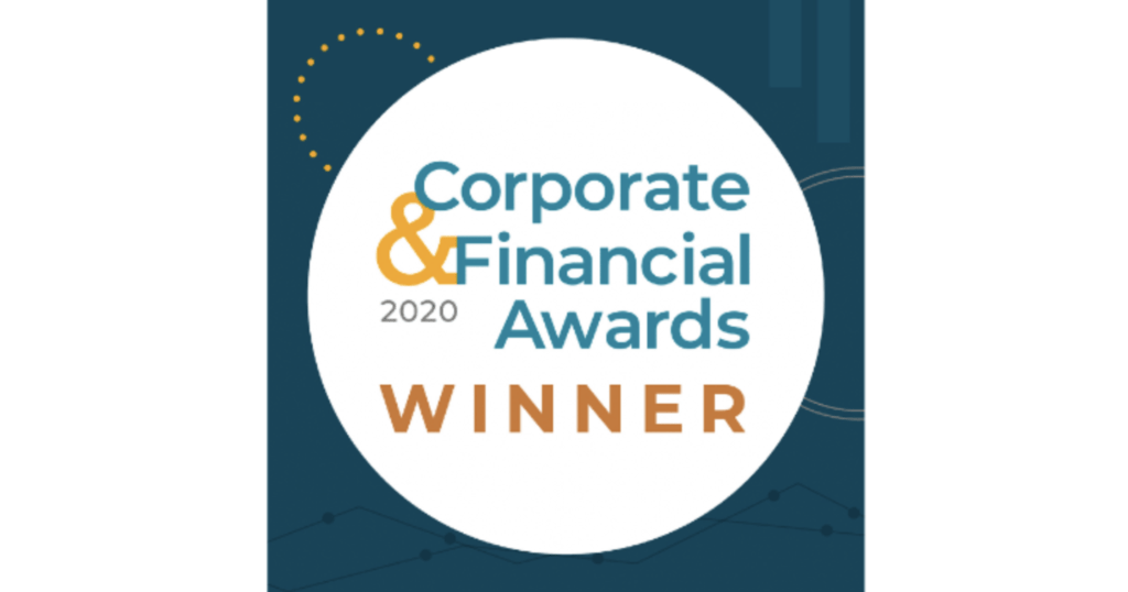 corporate and financial awards winners badge