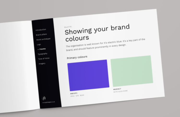 showing your brand colours screenshot