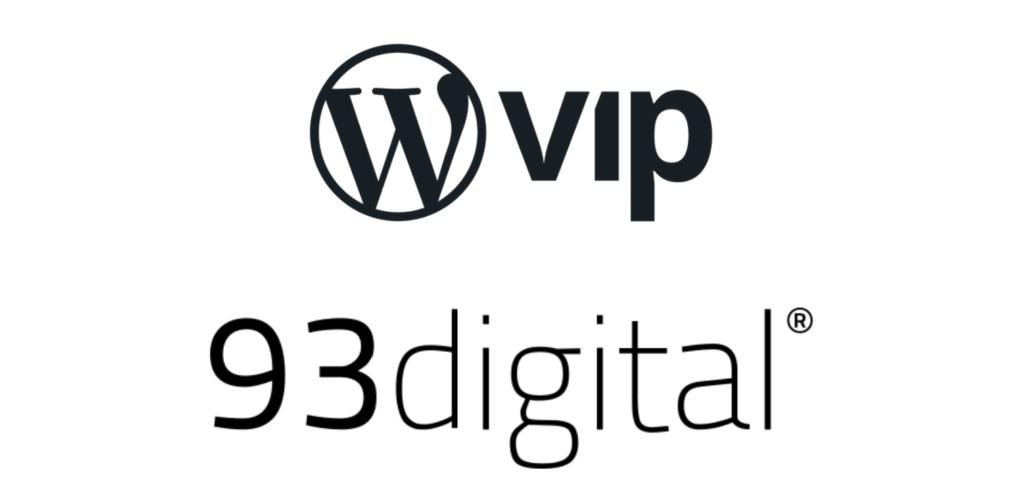 wordpress vip and 93digital logos stacked