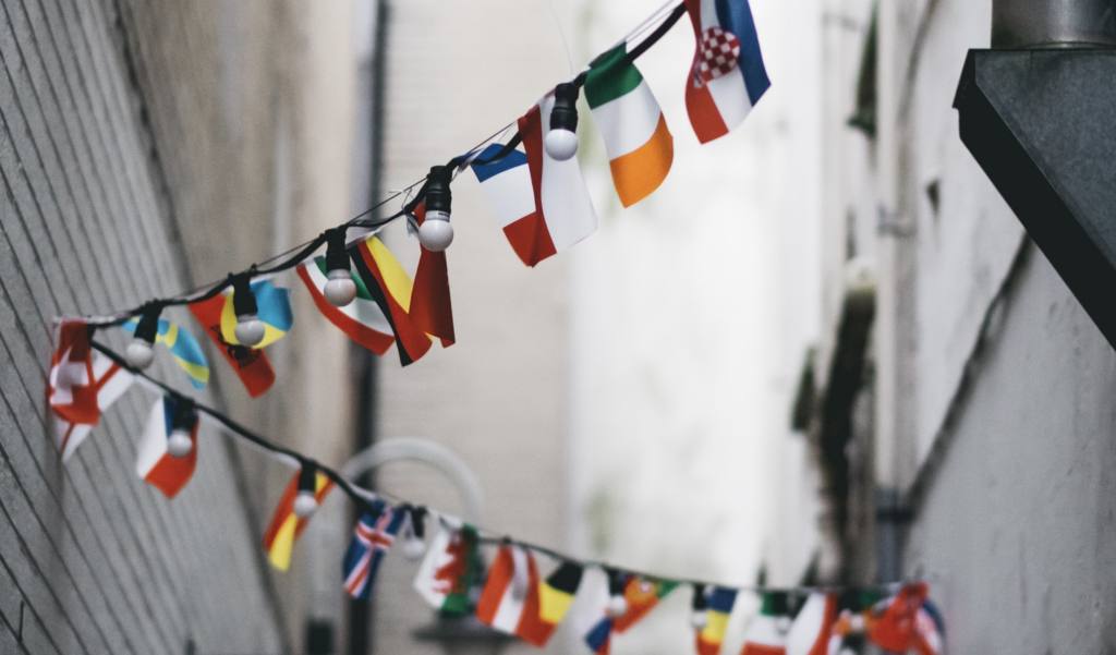 hanging flags